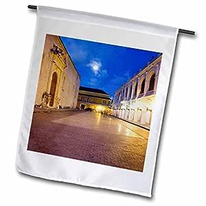 danita delimont–哥伦比亚–卡塔赫纳,哥伦比亚, colonial architecture–sa06mwr0058–micah wright–旗帜 12 x 18 inch Garden Flag