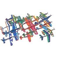 Cosmic 变色龙散装多种设计和尺寸42件装战斗机喷气泡沫飞机滑轮适用于儿童和成人。
