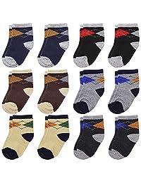 6 双装 12 双装或 24 双装新生儿袜子 男婴 女袜 0-6 个月