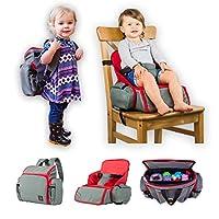 3合1舒适旅行增高座椅/背包/尿布包,适合幼儿/宝宝。 非常适合家用或旅行时使用。 *的婴儿沐浴礼物
