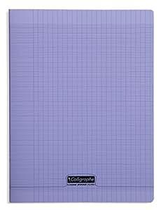 Clairefontaine 8000 聚丙烯笔记本 96 页封面塑料,方格,90 g 24 x 32 cm 亮黑色