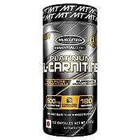 MuscleTech 肌肉科技 L-肉碱补充剂,500mg乙酰-L-肉碱,有益于锻炼后肌肉恢复,180粒(包装可能有所不同)