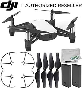 Ryze Tello 四轴飞行器无人机,带高清摄像头和 VR - 由 DJI 技术和英特尔处理器提供支持 B) Essential 底座