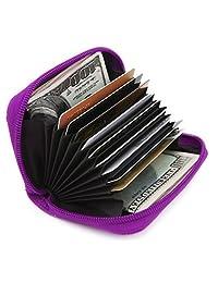 Zhoma RFID 屏蔽真皮信用卡盒*旅行钱包