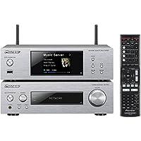 Pioneer XN-P02-K 紧凑型 Hifi 元件套装无扬声器(立体声接收器,网络播放器,2 x 75瓦,直接能量高清端级,WiFi,蓝牙) 银白色