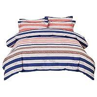 棉被套 中号双人床套装,印花图案 花卉 羽绒被套 带枕套 梦想 Full-Queen 43237-2