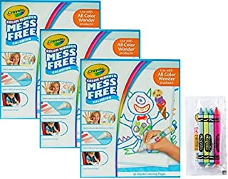Crayola Color Wonder 画纸,90 张,附带 4 包包木琴蜡笔