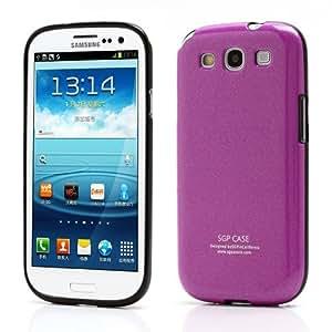 Glitter Powder TPU Back Case for Samsung Galaxy S3 I9300 - Non - Retail Packaging - Purple