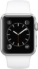新款Apple Watch Series1苹果智能手表38毫米表壳 Silver Aluminum Case/White Band 38 MM