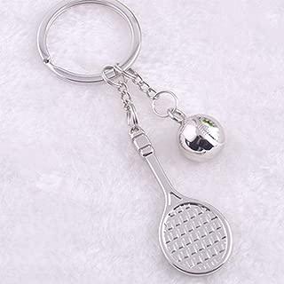 Dinoka) 网球 钥匙扣 运动 可爱 运动 运动 运动 钩 包饰 小巧 金属零件