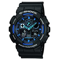 Casio G-Shock Analog-Digital Blue Dial Men's Watch - GA-100-1A2DR (G271)