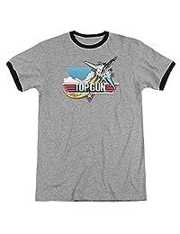 Trevco 男式 Top Gun 做旧标志 混色成人 T 恤