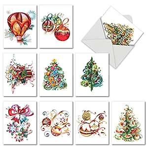 圣诞 quilling 圣诞幽默纸卡