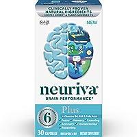 NEURIVA Plus 大腦營養補充劑,一瓶30粒,加入上B6,B12和葉酸,支持6項大腦表現指標