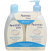 Aveeno Baby 日常护理套装(洗发沐浴露,保湿乳),共2件