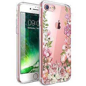 iPhone 8/iPhone 7 手机壳,ZUSLAB 独特艺术双层图案设计,混合手机壳带硬 PC 背壳和防震硅胶缓冲垫,苹果 iPhone 8/7 的 IMD 技术盖16660 花朵 2