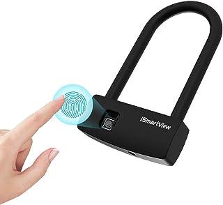 iSmartView 指纹挂锁 U-Sharp Lock 智能生物解锁 USB 可充电 IP65 防水长待机时间 3000 次解锁低电量提醒