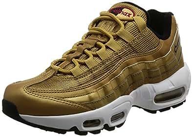 [耐克] 胶底运动鞋 WMNS AIR MAX 95 QS 814914-700 METALLIC GOLD/VARSITY RED-BLACK-WHITE 25.0 cm