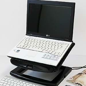 actto 安尚 NBS-09H 黑色 小旋风笔记本电脑散热架&USB2.0 4端口集线器 升降式笔记本电脑散热器 垫 支架13.3寸macbook苹果底座