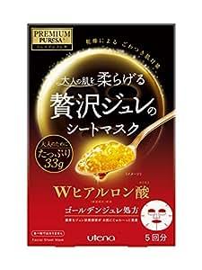 UTENA佑天兰 大容量 PREMIUM PUReSA 黄金果冻透明质酸面膜 33g×5枚入 日本亚马逊限定