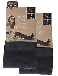 ATSUGI 厚木 连裤袜 RELISH ORIGINAL 混羊毛 混色连裤袜 相当于450D 〈2双装〉 黑 S~M