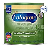 美赞臣Enfagrow幼儿过渡阶段大豆配方2段奶粉 20盎司罐装(4罐装)