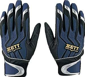 ZETT野球 打击手套 冲击斑点 双手用 BG999 *蓝×银色(2913) S(22~23cm)