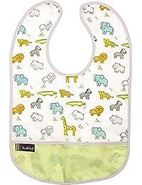 Kushies baby 中性 cleanbib White Little Safari 12 Months Plus