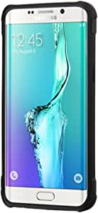 Asmyna Cell Phone Case for Samsung Galaxy S6 edge Plus - Retail Packaging - Black/Blue