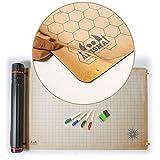 RPG 战斗网格垫 - 60.96 cm x 91.44 cm 双面氯丁橡胶垫加干擦 PVC 膜 - 桌面角色扮演图 - DnD 角色扮演 - 地牢和龙地图拼贴 - 桌面游戏垫