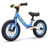 荟智滑步车德国儿童平衡车 2-3-6岁宝宝滑行车小孩无脚踏减震溜溜车HP1208 (蓝黑色)
