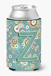 Caroline's Treasures CJ2015-YTBC Letter Y Circle Teal Initial Alphabet Tall Boy Koozie Hugger, Multicolor