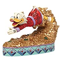 Disney 传统 4046055 Scrooge McDuck Figurine Treasure Diving 12.5 厘米