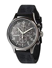 Timex men Easy Reader 棕色皮革手表 #T20041T20041 analog Genuine-leather 棕色 T200419J watches