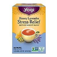 Yogi Tea (瑜伽茶) - 应力救济茶蜂蜜薰衣草 - 16茶叶袋