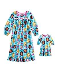 Sunny Day 娃娃女孩睡衣和娃娃礼服长袖睡衣 幼儿睡衣