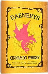 """iCanvasART Daenerys Cinnamon Whisky 油画印刷品,152.40 x 3.81 x 101.6 cm 18"""" x 12"""" DBL2-1PC3-18x12"""
