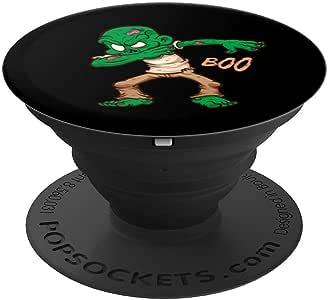 Dabbing Monsters 万圣节僵尸 Boo PopSockets 手机和平板电脑握架260027  黑色