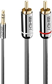 LINDY 35333 1m 3.5mm 至 Phono 音频线 Cromo Line