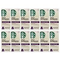 Starbucks 濃咖啡烘焙膠囊 Nespresso咖啡機兼容 (12包,共120 個膠囊)(濃度10)