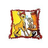 モリシタ 迪士尼坐垫袖珍小鹿斑比黄色侧100% 棉内芯100% 聚酯纤维 -