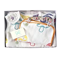 Hoppetta champignon 6层纱布睡袋+夹子&手帕 礼品套装 18111034