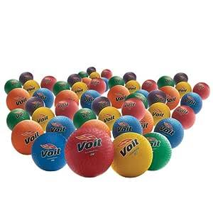 21.59 厘米。 Rainbow Playground 球(48 只装)