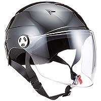 LEAD领先工业 摩托车头盔 半盔 带防护罩 LL码(61~62cm以下) RE41 LL (頭囲 61cm~62cm未満) 黑色 RE41