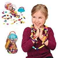 B.Toys 比乐 波普珠珠 创意DIY无绳串珠玩具 手工益智 项链手链 女孩 300粒装 无需线 4岁+ BX1254Z