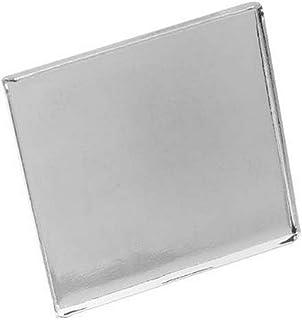 Beadaholique Bright Tone Brass Square Bezel Adjustable Ring, 26mm, Silver