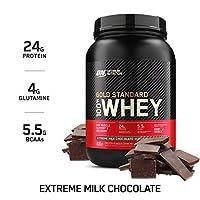 Optimum Nutrition - 100%乳清黄金本位制蛋白质极端牛奶巧克力 - 2磅。
