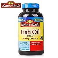 Nature Made fish oil 深海鱼油软胶囊220粒(美国品牌)包税