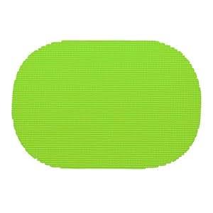 Kraftware 31136 渔网垫,椭圆形,黑色 石灰绿 37636