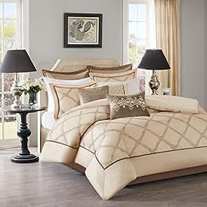 Bombay Teramo Multi Piece Comforter Set, California King, Ivory